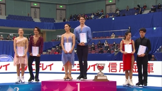 2020 Japanese Nationals - Ice Dance victory ceremony FujiTV